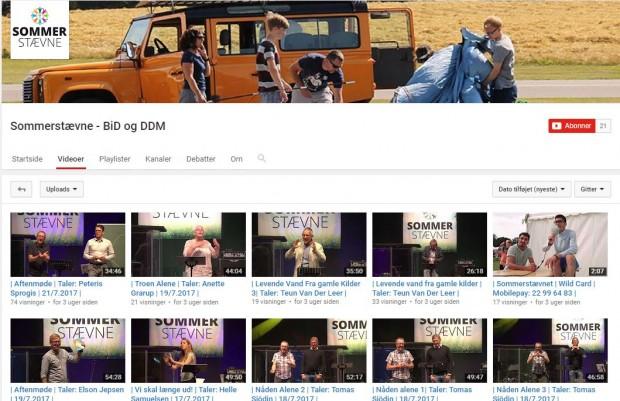 Videoer fra sommerstævnet